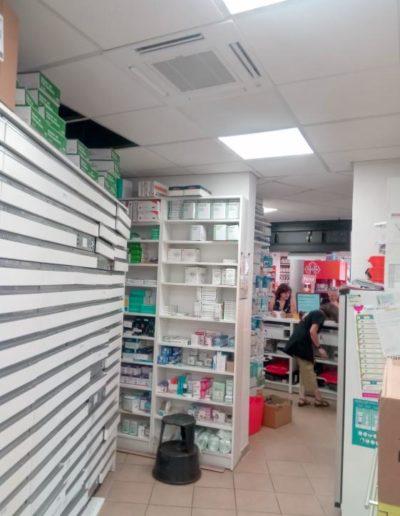 Pose climatisation dans pharmacie